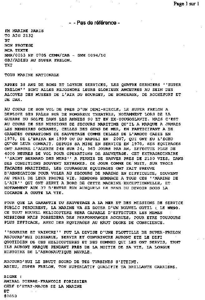 [Aéronavale divers] SUPER FRELON - Page 13 Adieu_10