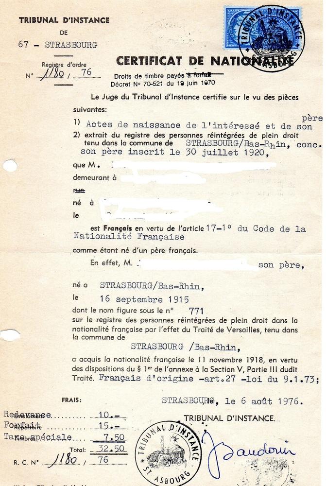 [HISTOIRES ET HISTOIRE] Histoire de l'Alsace et des Alsaciens. 1870 – 2000. Certif12