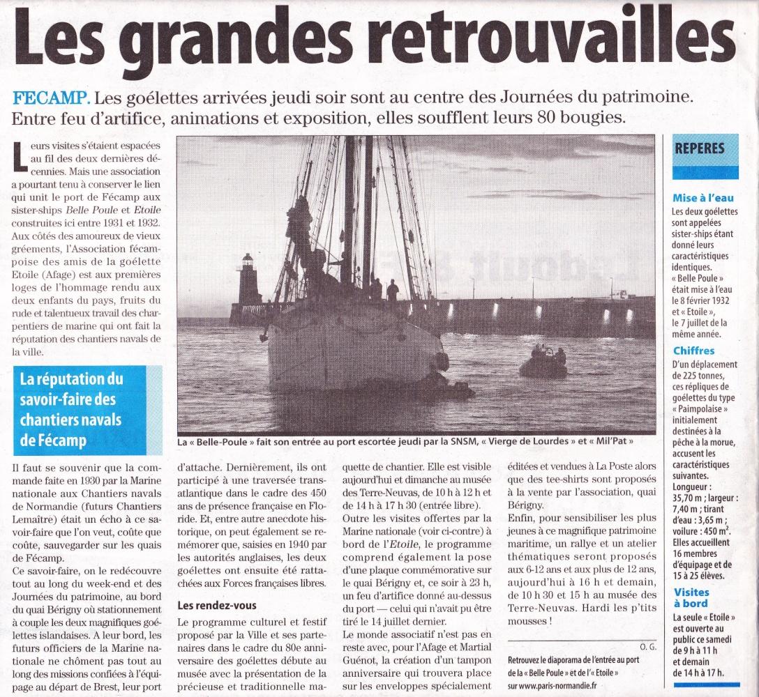 [Vie des ports] FÉCAMP - Page 2 Etoile20