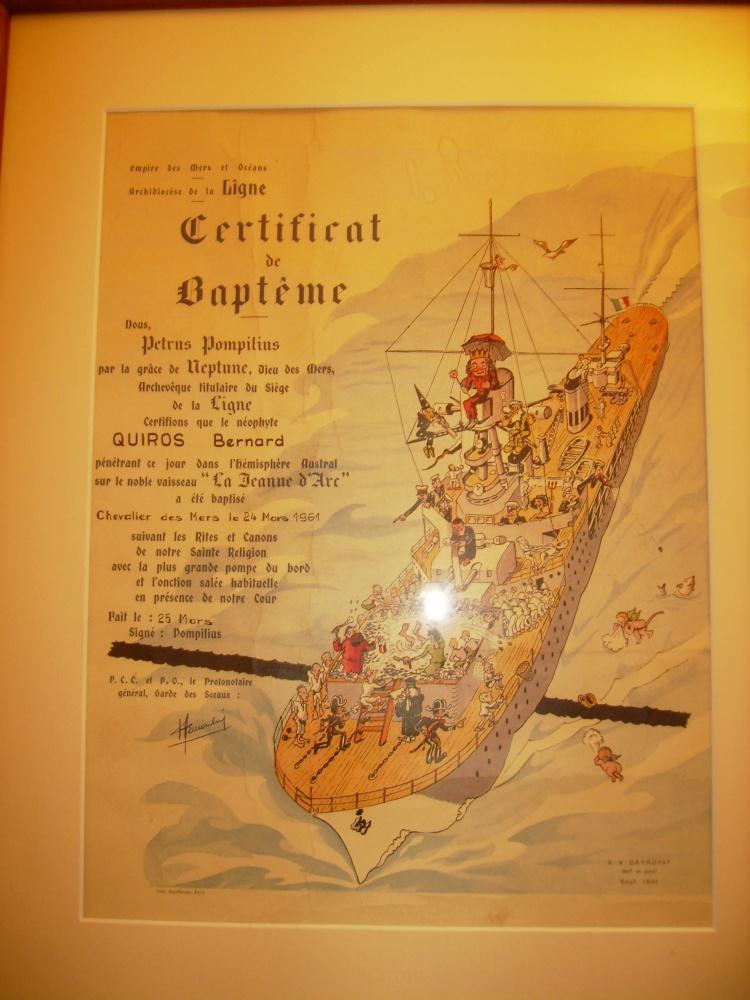 [ Les traditions dans la Marine ] Les diplômes de la Ligne - Page 4 Pa010112